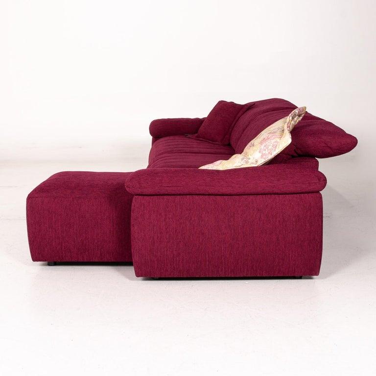 Mondo Fabric Corner Sofa Electrical Function Purple Berry Relax Function Sofa 8