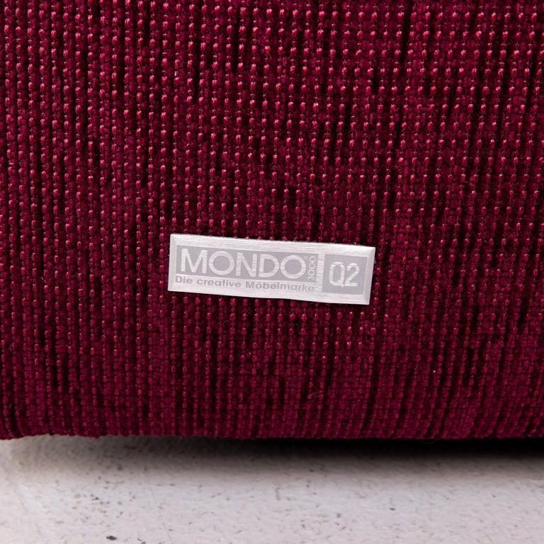 Mondo Fabric Corner Sofa Electrical Function Purple Berry Relax Function Sofa 2