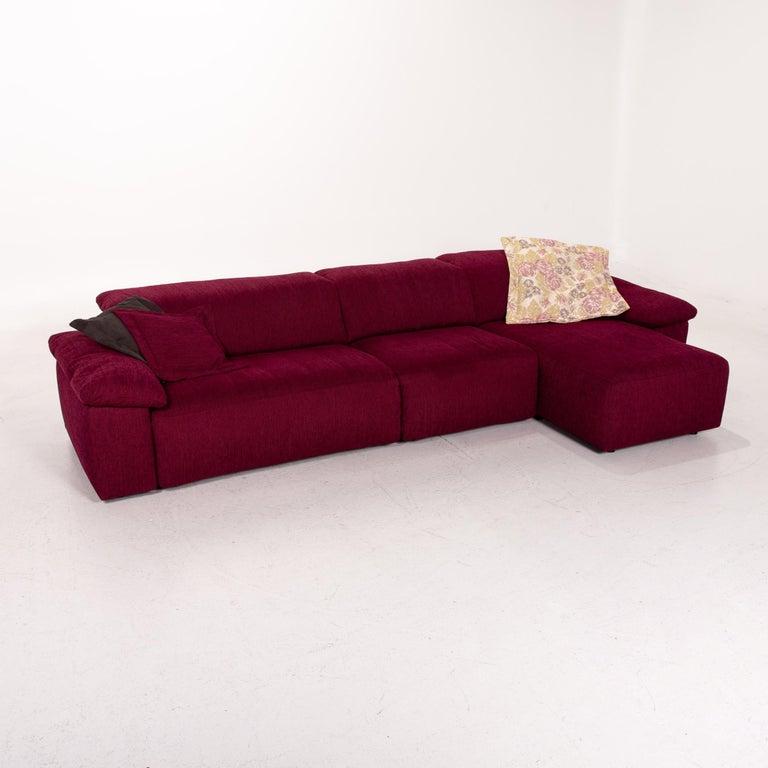 Mondo Fabric Corner Sofa Electrical Function Purple Berry Relax Function Sofa 3