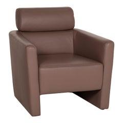 Mondo Leather Armchair Bruaun