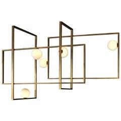 Mondrian Glass Chandelier