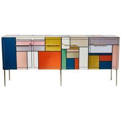 """Mondrian"" Inspired Sideboard by Studio Glustin"