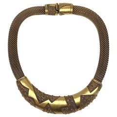 Monet 1980s Abstract Woven Collar Necklace
