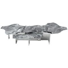 Monet Center Table with Polished Casted Aluminum And Acrylic Base