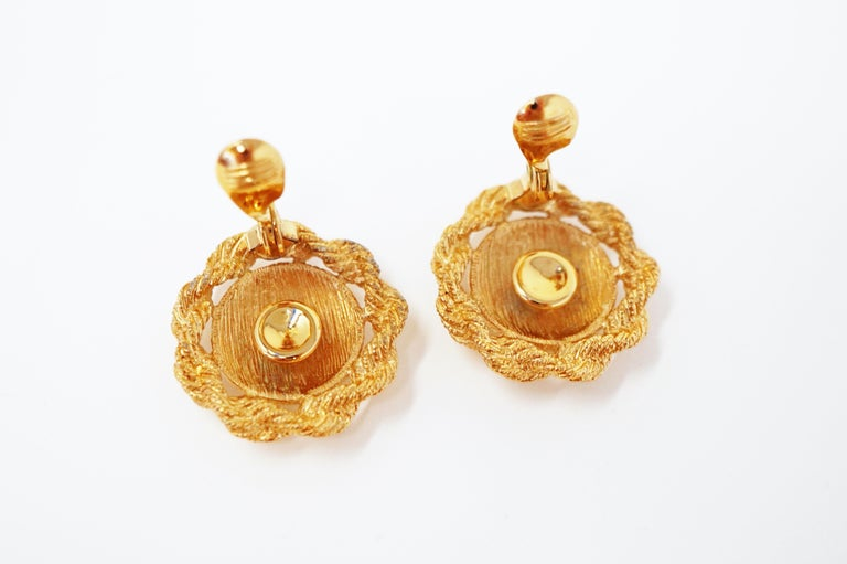 Textured Statement Earrings by Monet, Signed, circa 1955 For Sale 3