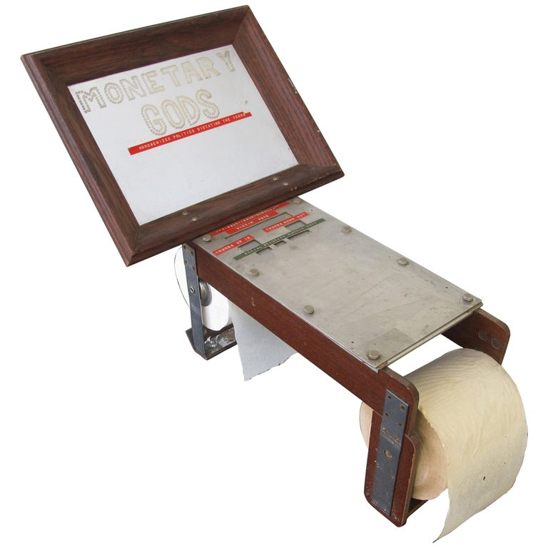 """Monetary Gods"" Voting Machine with Tissue Issue Scroll by Edward Nagrodzki For Sale"