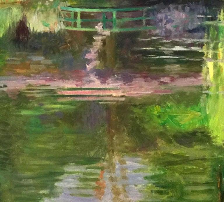 French Monet's Bridge by Laurent Dareau For Sale