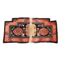 Mongolian Saddle Carpet, Early 20th Century.