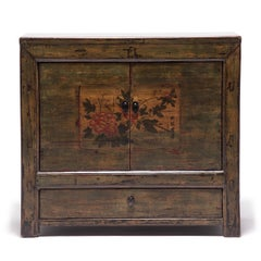 Mongolian Spring Blossom Painted Chest