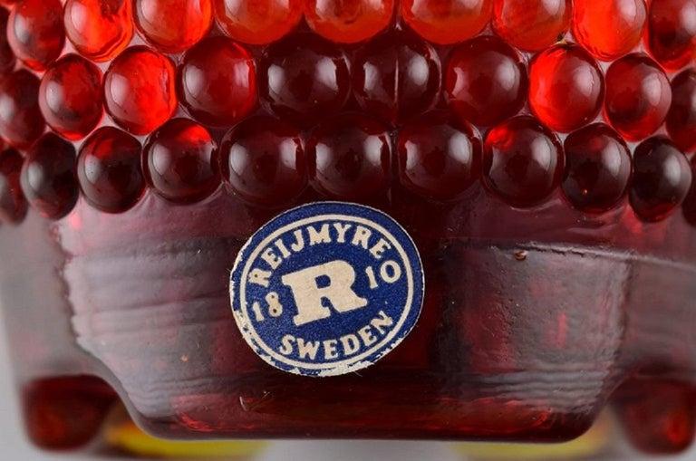 Mid-20th Century Monica Bratt for Reijmyre, Three Pärlan Candlesticks for Small Candles For Sale