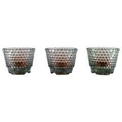 Monica Bratt for Reijmyre, Three Pärlan Candlesticks for Small Candles