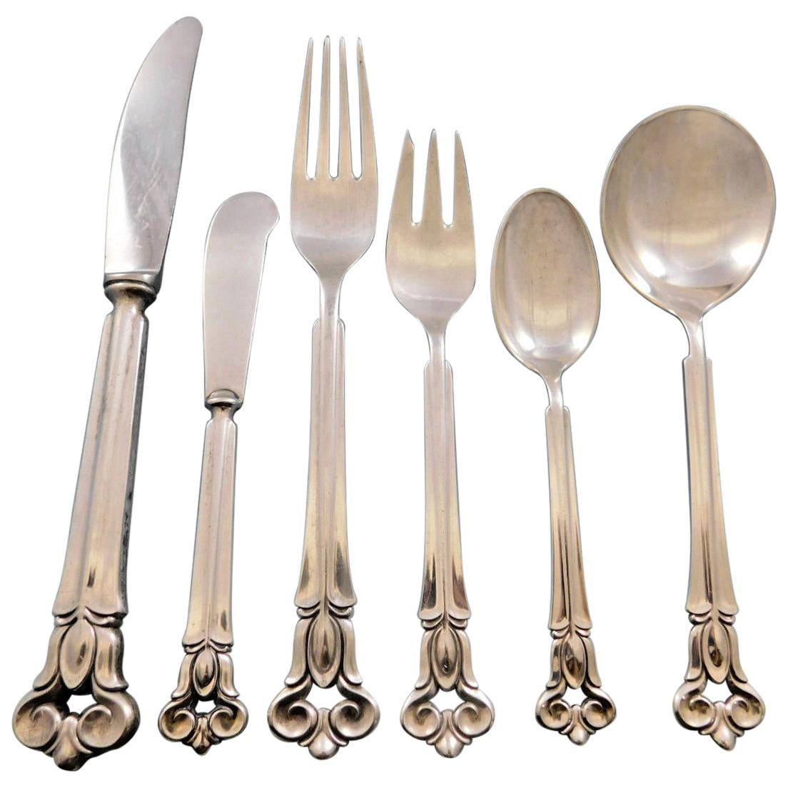 "Monica by Cohr Sterling Silver Regular Fork 7 5//8/"""