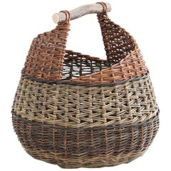 Mónica Guilera Subirana, Baskets Willow with Wooden Handle, Contemporary Craft