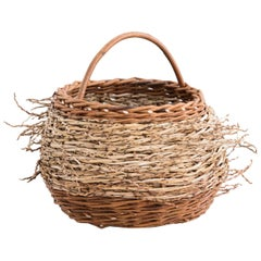 Mónica Guilera Subirana, Willow and Date Palm Contemporary Crafts Basket, 2020