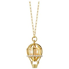 "Monica Rich Kosann 18 Karat Gold ""Adventure"" Hot Air Balloon Charm Necklace"