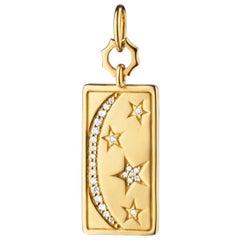 Monica Rich Kosann 18 Karat Gold Sun, Moon and Stars Medallion with Diamonds