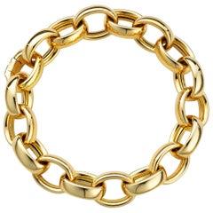 Monica Rich Kosann 18 Karat Yellow Gold 'Marilyn' X-Large Ultra Link Bracelet