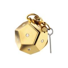 """Monica Rich Kosann 18 Karat Yellow Gold """"Secret"""" Message Box Charm"""