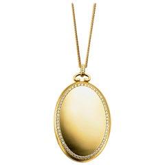 Monica Rich Kosann 18 Karat Yellow Gold Six-Image Locket with Diamond Border