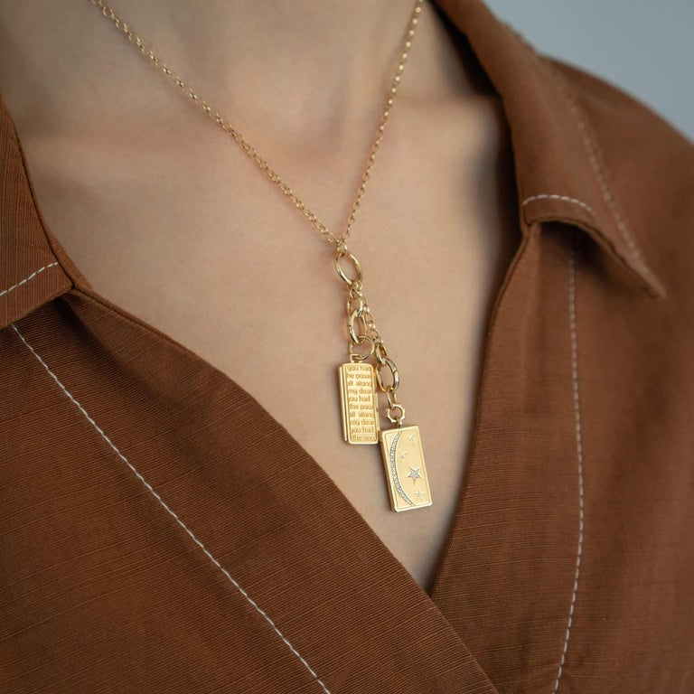 Monica Rich Kosann 18K Yellow Gold 'Add Your Charms' Short Link Charm Necklace In New Condition For Sale In New Cannan, CT