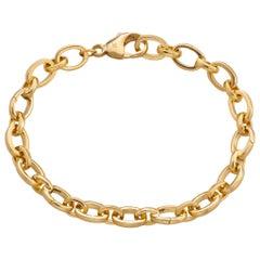 "Monica Rich Kosann 18K YG ""Audrey"" Charm Bracelet with 5 Hinged Links for Charms"