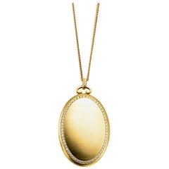 Monica Rich Kosann Six Image Diamond Border Locket in 18 Karat Yellow Gold