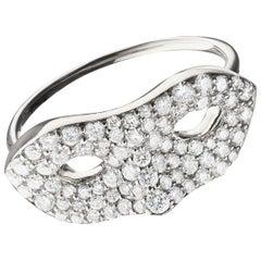 """Monica Rich Kosann """"Unmasked"""" Diamond Pave 18K White Gold Ring"""