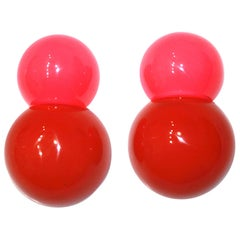 Monies 2 Tone Polyester Clip Earrings