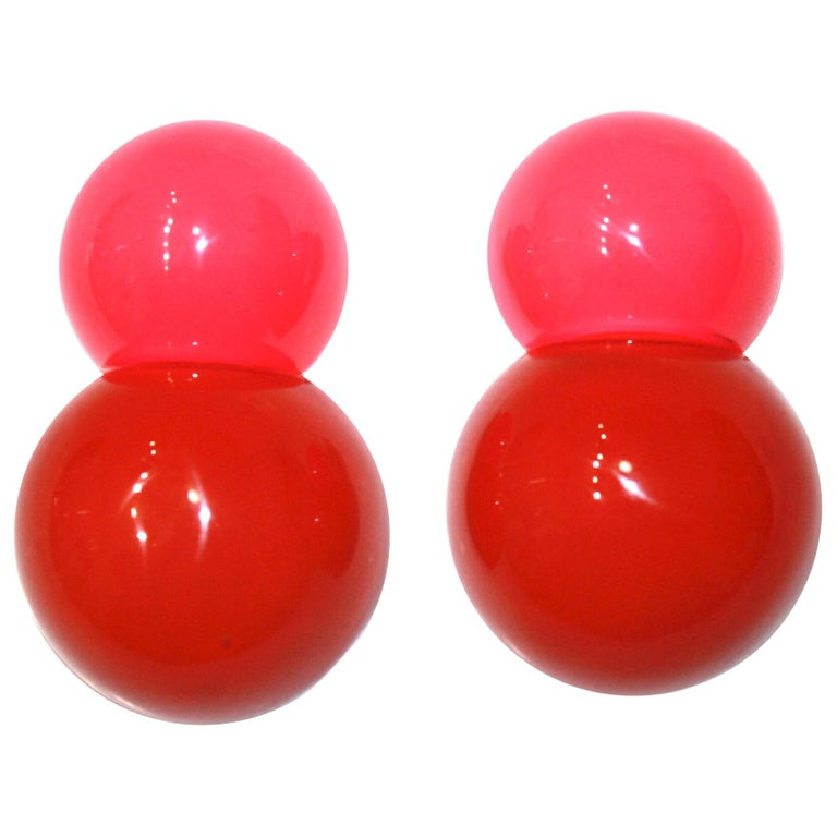 Monies 2 Tone Polyester Clip Earrings For Sale