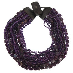 Monies Amethyst and Ebony One of a Kind Necklace