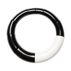 Monies Black and White Choker Necklace