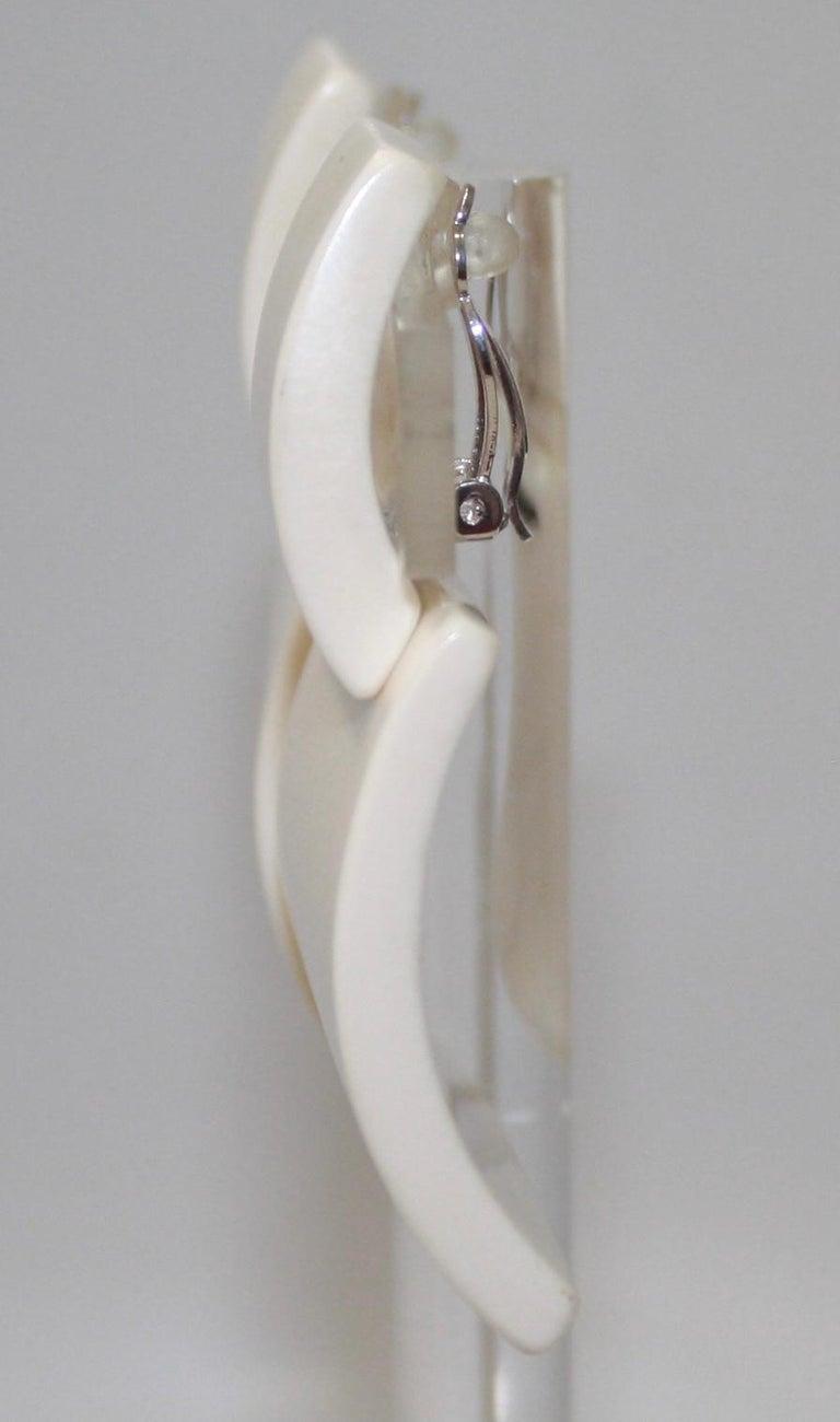Modern Monies Bone Earrings  For Sale
