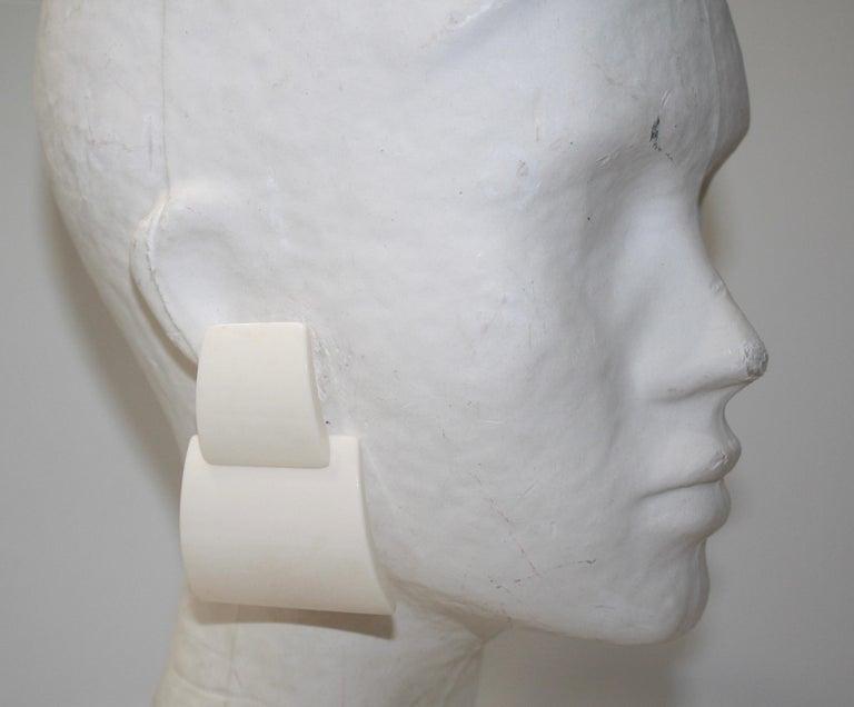 Monies Bone Earrings  In New Condition For Sale In Virginia Beach, VA