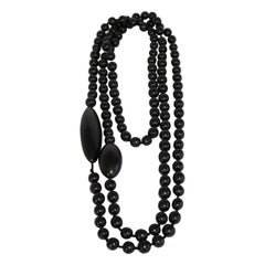 Monies Ebony Wood Bead Necklace