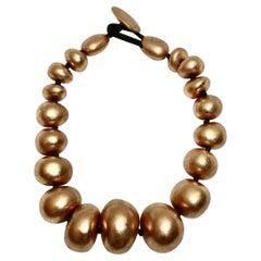 Monies Gold Pebble Choker