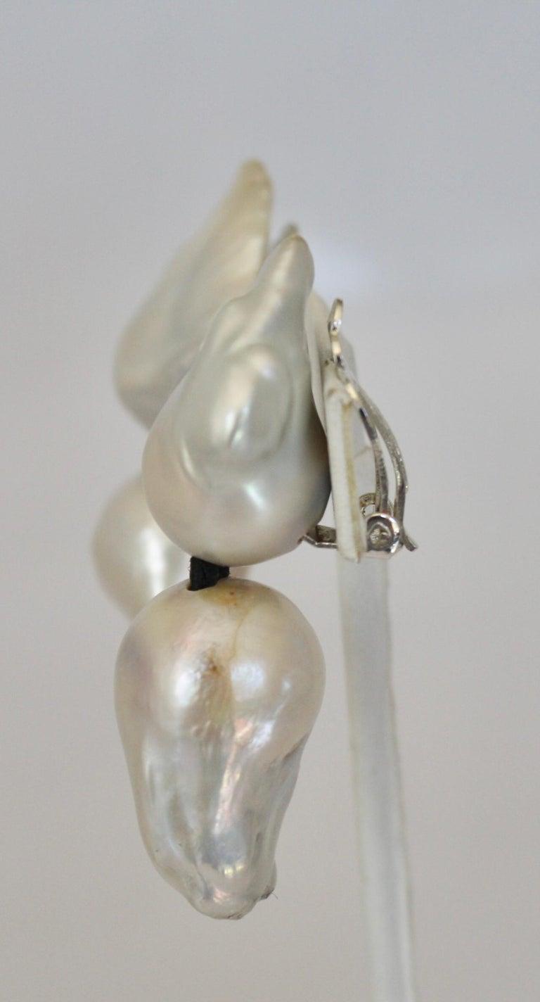 Monies Keshi Pearl Clip Earrings In New Condition For Sale In Virginia Beach, VA