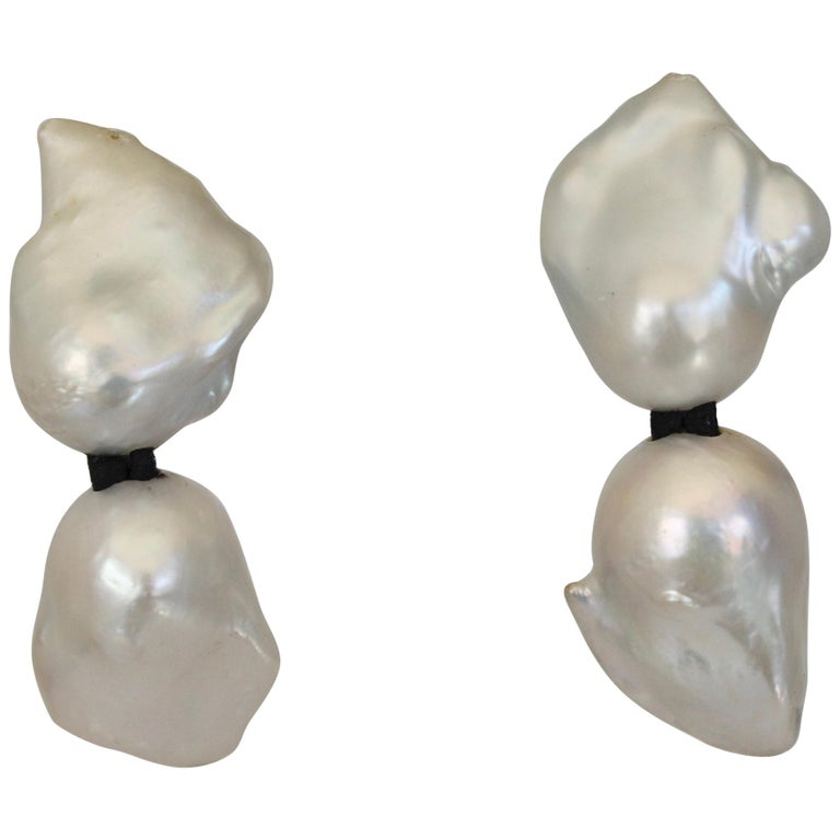 Monies Keshi Pearl Clip Earrings For Sale