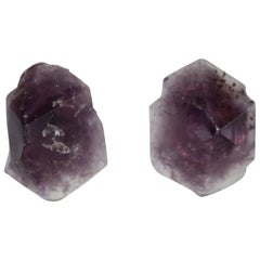 Monies Large Brazilian Amethyst Clip Earrings