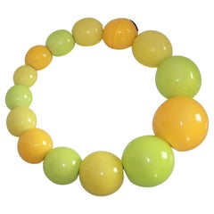Monies Multi Color Polyester Ball Necklace