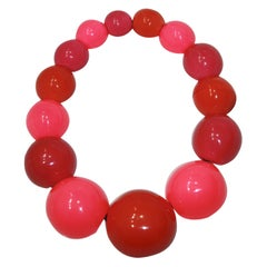 Monies Multicolor Polyester Ball Necklace