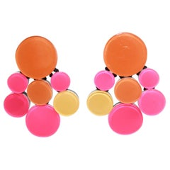 Monies Orange and Pink Statement Earrings