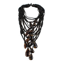 Monies Oversized Multi-strand Horn Necklace