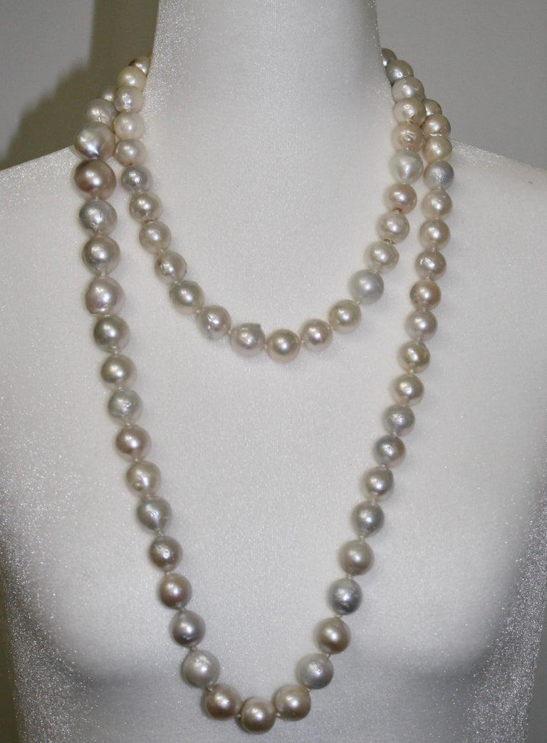 Modern Monies Unique Baroque Freshwater Pearl Long Strand For Sale