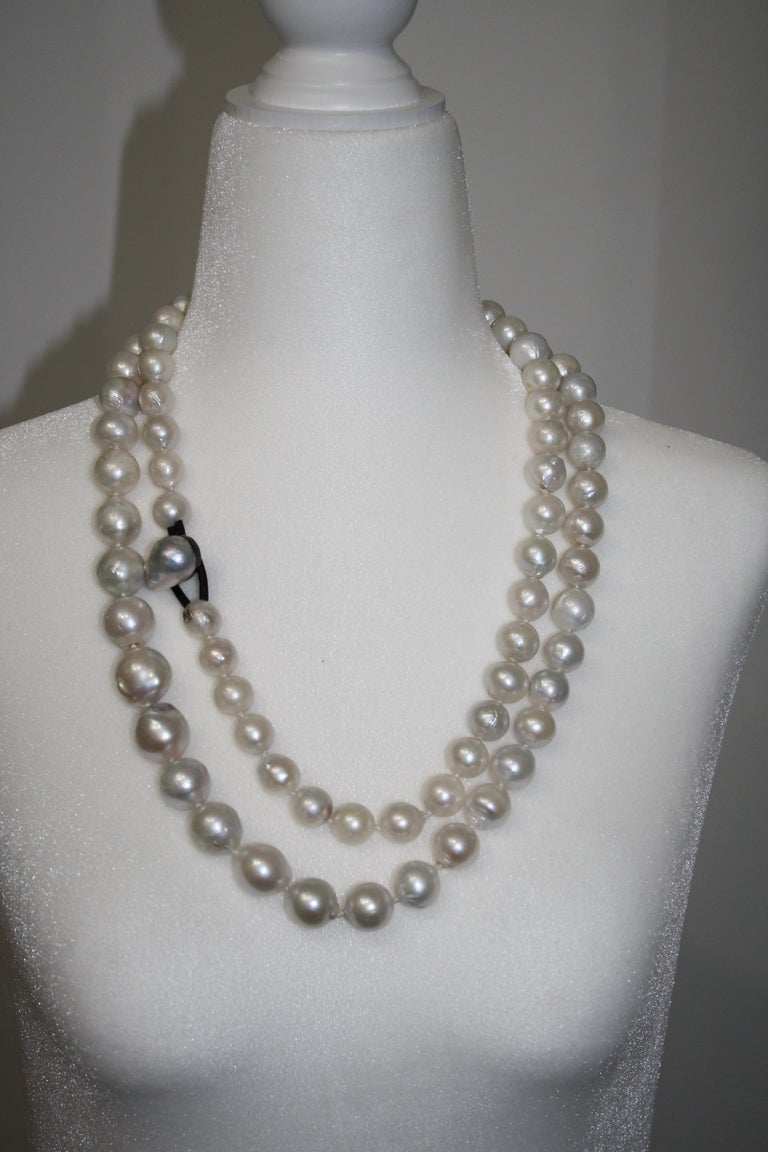 Monies Unique Baroque Freshwater Pearl Long Strand In New Condition For Sale In Virginia Beach, VA