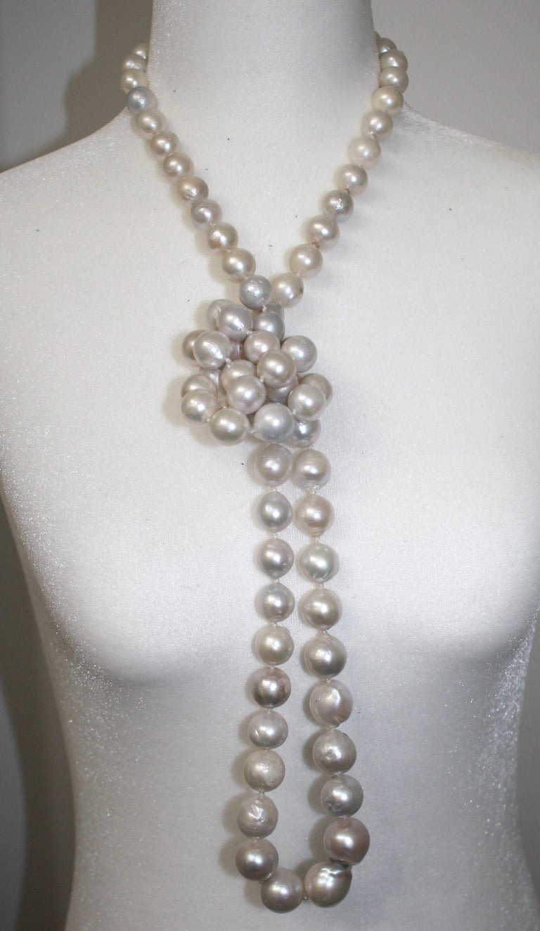 Monies Unique Baroque Freshwater Pearl Long Strand For Sale 3