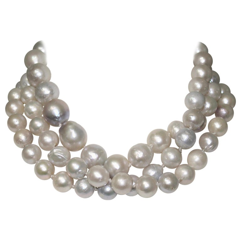 Monies Unique Baroque Freshwater Pearl Long Strand For Sale