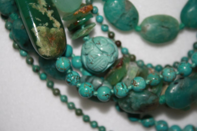 Monies Unique Chrysoprase, Jade, Chrysocolla Choker For Sale 1