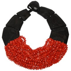Monies Unique Coral and Ebony Choker
