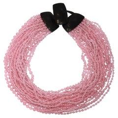 Monies Unique Multi strands Pink Quartz Choker