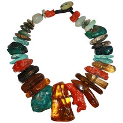 Monies Unique Semi Precious Stone Choker